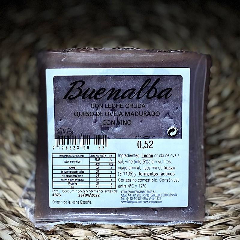 QUESOS Queso de Oveja al Vino Tinto 500 gr  12,90€